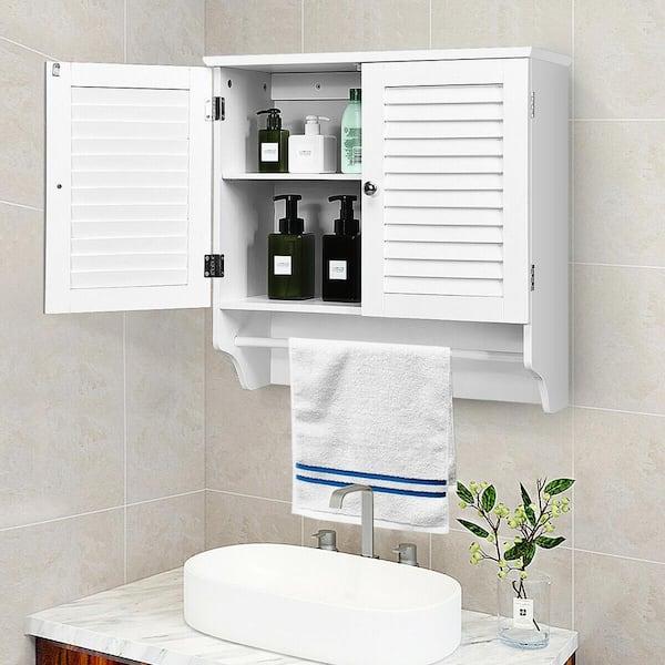 Shelf Storage Rack, Bathroom Cabinet With Towel Rack