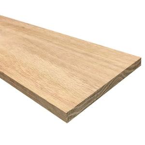 1/2 in. x 6 in. x 4 ft. Hobby Board Kiln Dried S4S Oak Board (10-Piece)