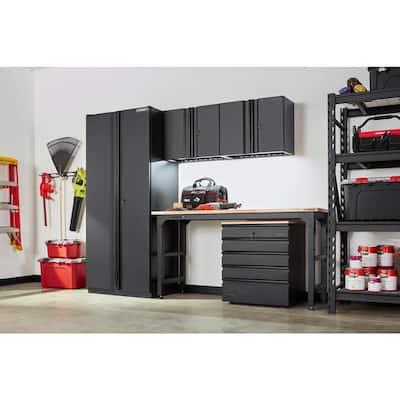 5-Piece Heavy Duty Welded Steel Garage Storage System in Black (108 in. W x 81 in. H x 24 in. D)