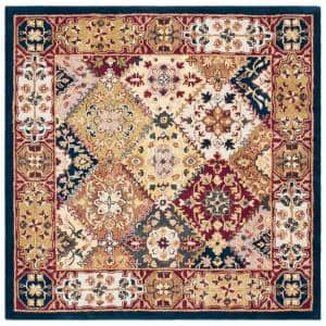 Safavieh Heritage Red Multi 8 Ft X 8 Ft Square Area Rug Hg926a 8sq The Home Depot