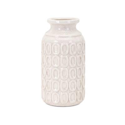 Eleanor White Ceramic Decorative Vase
