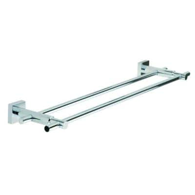24 in. Double Towel Bar in Chrome