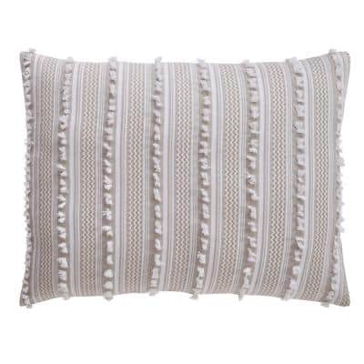 Angelique Comforter 3-Piece Taupe King 100% Tufted Unique Luxurious Soft Plush Chenille Comforter Set