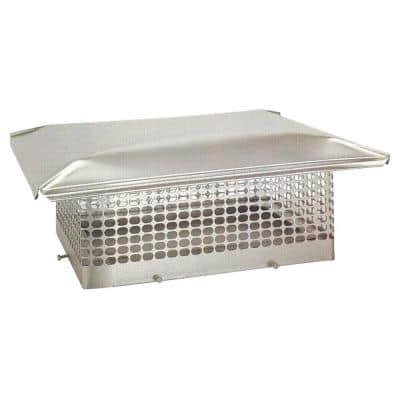17 in. x 21 in. Adjustable Stainless Steel Chimney Cap