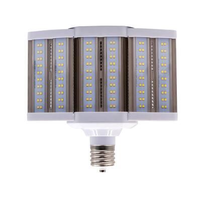 250-Watt Equivalent 80-Watt Corn Cob SHOEBOX LED High Lumen Area Light Bulb Bypass Mog 120-277V Daylight 5000K 84103