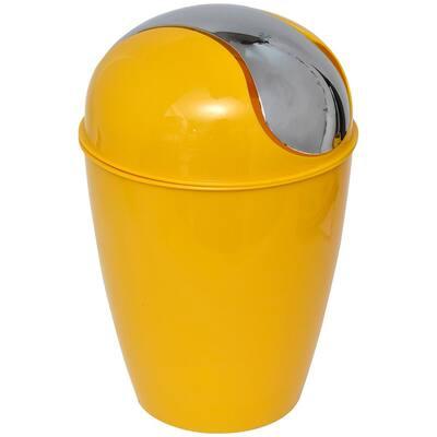4.5 l/ 1.2 Gal. Round Bath Floor Trash Can Waste Bin in Yellow Sunshine