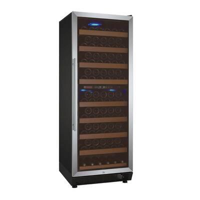 Vite II Tru-Vino Dual Zone 99-Bottle Stainless Steel Right Hinge Wine Refrigerator