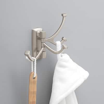 Portwood Swivel Towel Hook in SpotShield Brushed Nickel