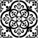 Avignon 10 in. x 10 in. Black Peel and Stick Backsplash Tiles