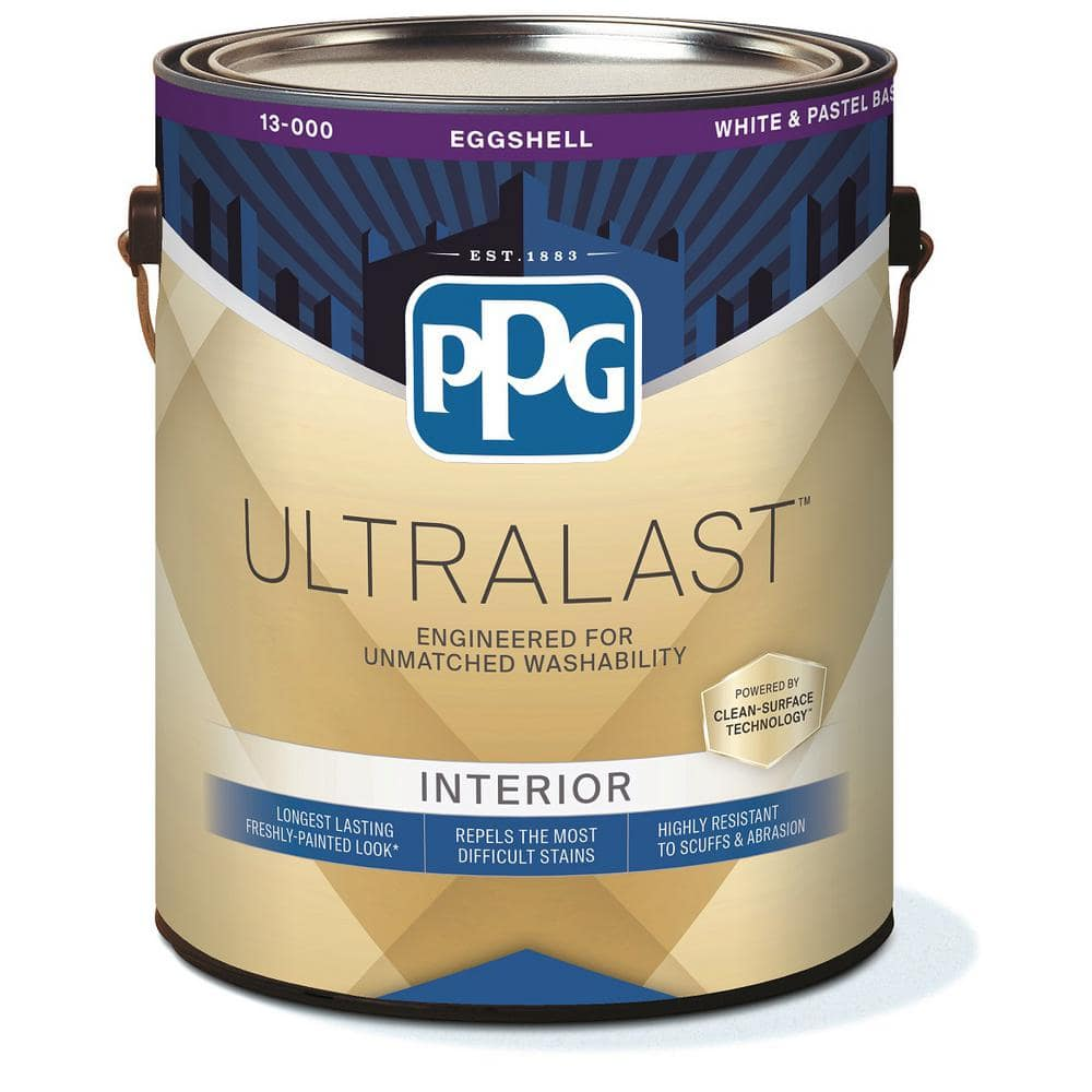 Ppg Ultralast 1 Gal Base 1 Eggshell Interior Paint With Primer 13 310 01 The Home Depot