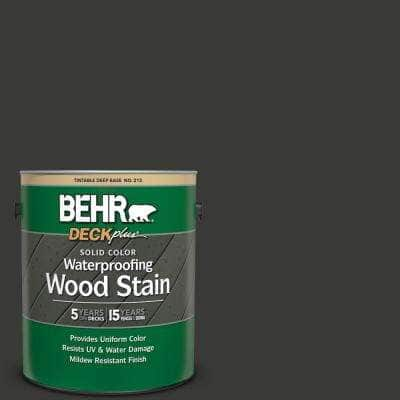 1 gal. #HDC-MD-04 Totally Black Solid Color Waterproofing Exterior Wood Stain