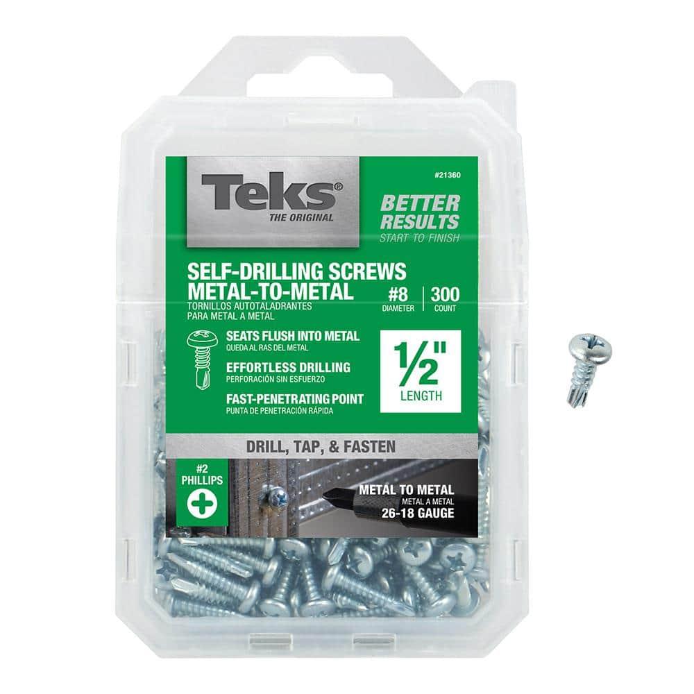 50ps #8 Hex Washer Head Self-Drilling Tek Screws Stainless Steel Sheet Fasteners