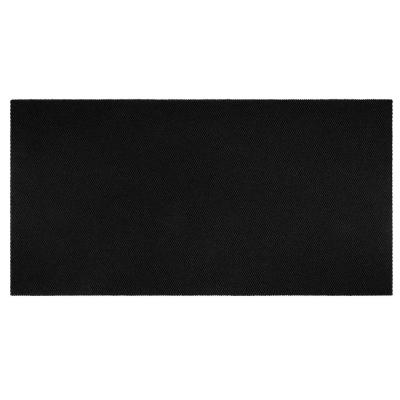 Recycled Rugged All-Weather Textile 3 ft. x 20 ft. Black Entry and Garage Mat