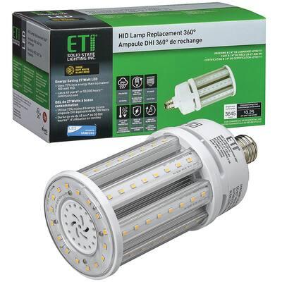 8 in. 100-Watt Equivalent Corn Cob E26 LED Light HID Replacement 360-Degree 27-Watt 3645 Lumens 3000K Soft White