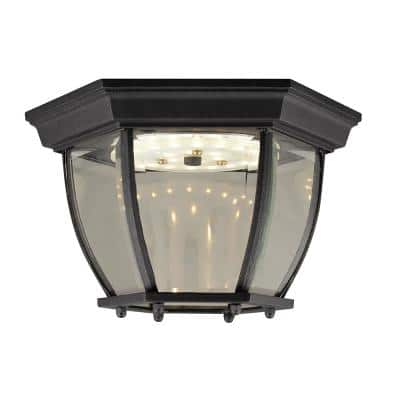 Integrated Led Outdoor Flush Mount Lights Outdoor Ceiling Lights The Home Depot