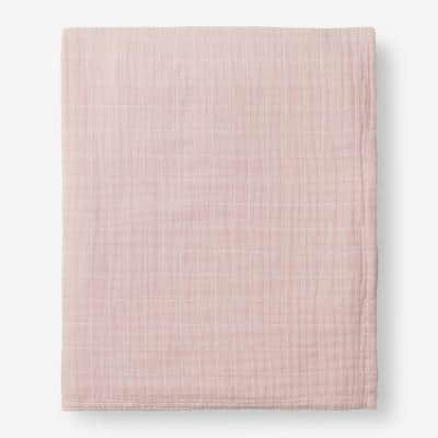 Gossamer Rose Water Solid Cotton King Woven Blanket