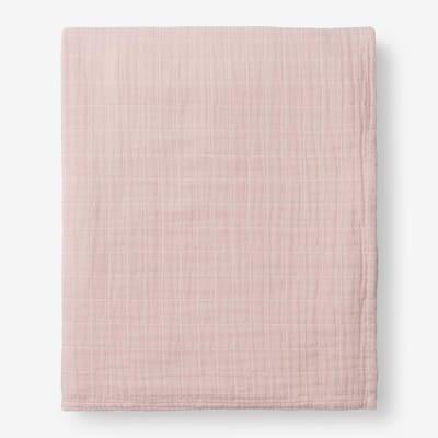 Gossamer Rose Water Solid Cotton Queen Woven Blanket