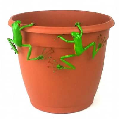 Red Eyed Tree Frog Thin Pot Sitter Hanger (Set of 2)