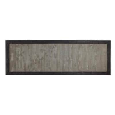 2 ft. x 6 ft. Gray Cedar Canyon Fence Panel with Black Frame