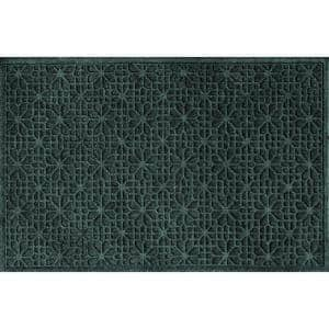 Stained Glass 35 in. x 59 in. PET Polyester Doormat Evergreen