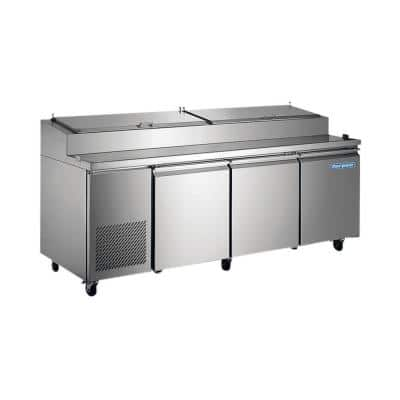 24 cu. ft. Commercial Pizza Prep Refrigerator in Stainless Steel