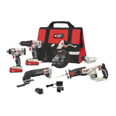 20-Volt MAX Lithium-Ion Cordless Combo Kit (6-Tool) with USB Charger