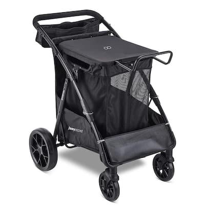 Platoon Heavy-Duty All Terrain Metal Personal Utility Cart in Black