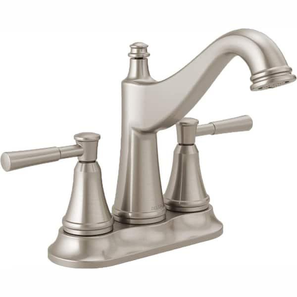 Delta Mylan 4 in. Centerset 2-Handle Bathroom Faucet in SpotShield Brushed Nickel