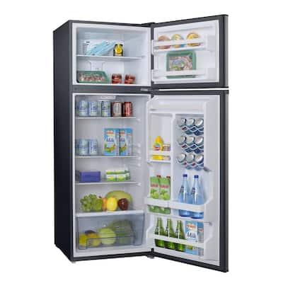 12.0 cu. ft. Top Freezer Refrigerator with Dual Door, Frost Free in Stainless Steel