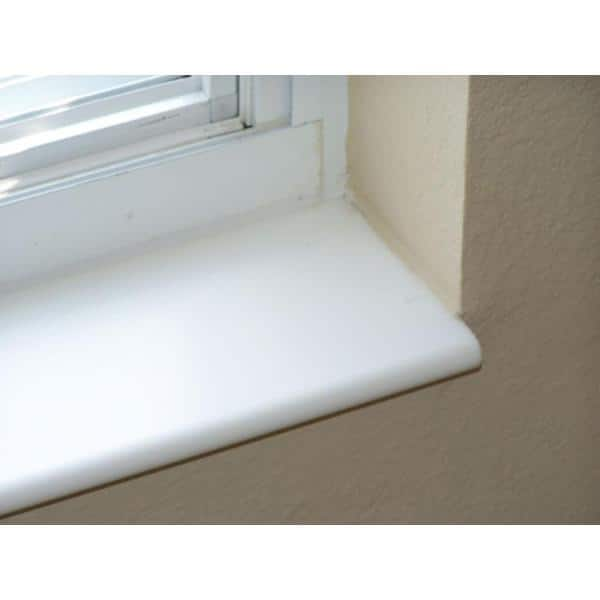 Siltech Innovative Windowsill Products Designer White 1 2 In X 5 7 8 In X 36 In Acrylic Bullnose Window Sill Moulding N6c36dw The Home Depot
