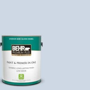 Behr Premium Plus 1 Gal S520 2 Journeys End Semi Gloss Enamel Low Odor Interior Paint And Primer In One 305001 The Home Depot