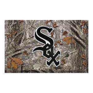 MLB - Chicago White Sox 19 in. x 30 in. Outdoor Camo Scraper Mat Door Mat