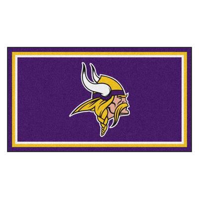 NFL - Minnesota Vikings 3 ft. x 5 ft. Ultra Plush Area Rug
