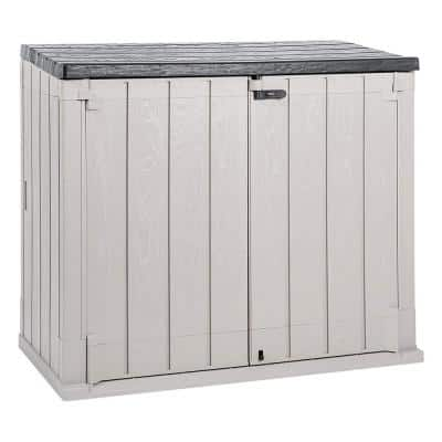 Stora Way Plus XL 44 cu. ft. Taupe Grey/Anthracite All Weather Storage Shed