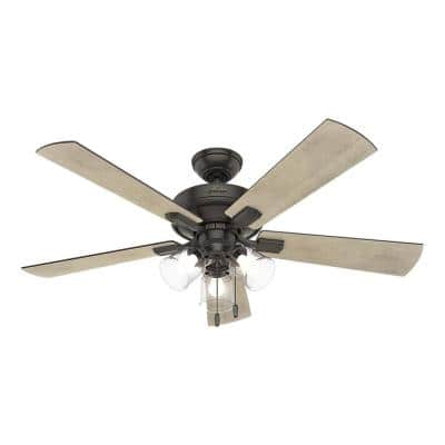 Crestfield 52 in. LED Indoor Noble Bronze Ceiling Fan with 3-Light Kit