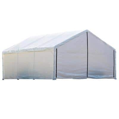 18 ft. W x 30 ft. D x 10 ft. H SuperMax Fire-Rated Canopy Enclosure Kit in White (Frame and Top Cover Not Included)