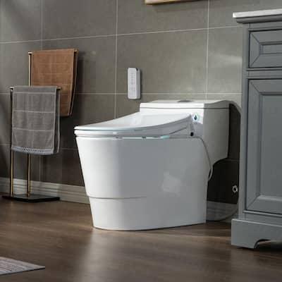Revel I 1-Piece 1.1GPF/1.6 GPF Dual Flush Elongated Toilet with Advance Smart Washlet Bidet in White