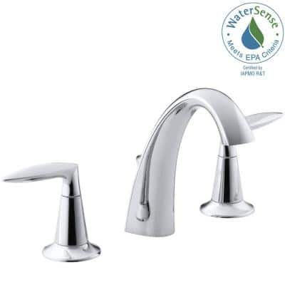 Alteo 8 in. Widespread 2-Handle Mid-Arc Water-Saving Bathroom Faucet in Polished Chrome