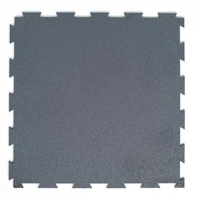 1.58 ft. x 1.58 ft. Granite Precision Lock Utility Rubber Flooring (25 sq. ft./Pack)