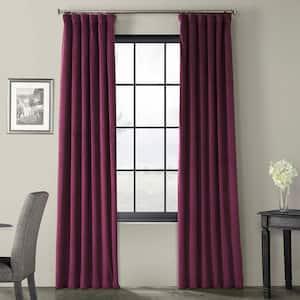 Cabernet Velvet Rod Pocket Blackout Curtain - 50 in. W x 120 in. L