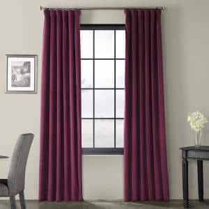 Cabernet Velvet Rod Pocket Blackout Curtain - 50 in. W x 96 in. L