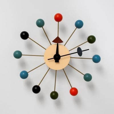 Bubble Multi-Color Mid Century Modern Wall Clock