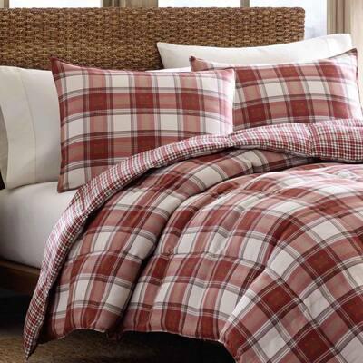 Edgewood Plaid Cotton Comforter Set