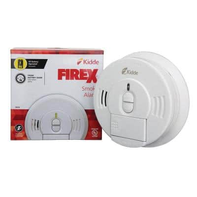 Firex Battery Operated Smoke Detector with Ionization Sensor and Front Load Battery Door