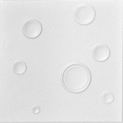 Brunp 1.6 ft. x 1.6 ft. Glue Up Foam Ceiling Tile in Plain White (21.6 sq. ft./case)