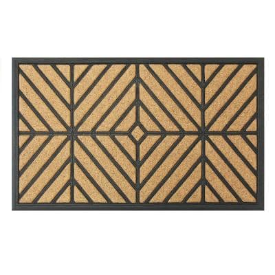 18 in. x 30 in. Bali Rubber Inlay and Backing Door Mat