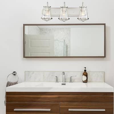 Darby 3-Light Satin Platinum Interior Bath Bar Light