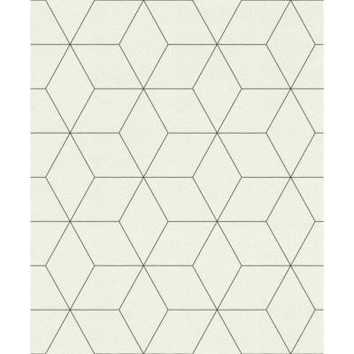 Lloyd Off-White Geometric Paper Strippable Wallpaper (Covers 56.4 sq. ft.)