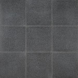 Raleigh Jet Square 16 in. x 16 in. Polished Cement Terrazzo Floor and Wall Tile (3.55 sq. ft./Case)