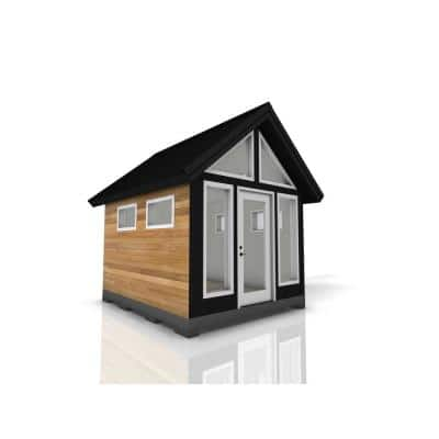 Installed Shed Rustica Series Refuge 10 ft. x 12 ft. Backyard Studio with Cedar Siding and Wood Foundation